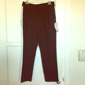 Zara trousers with white side stripe size L